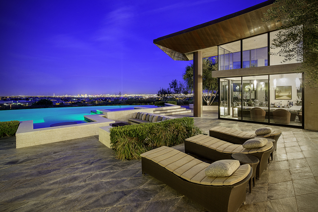 The patio of a home at The Ridges. (Courtesy)