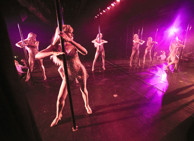 """Crazy Girls"" dancers perform their last show at the Riviera hotel-casino on Friday, May 1, 2015. After  28 years the show is closing and moving to Planet Hollywood. (Jeff Scheid/Las Vegas Review- ..."