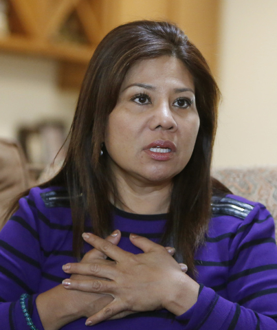 Grace Aye, mother of William Parke, speaks about her son at her house in Las Vegas, Wednesday, April 22, 2015. Parke was a celebrity dancer in his native Burma before moving to Las Vegas in 2005.  ...