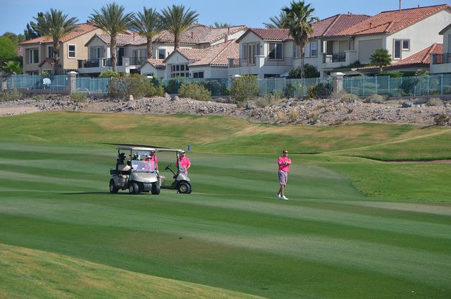 Golfers participate in 2014's We Heart Maggie Golf Tournament. The seventh annual event is planned for 11:30 a.m. May 23 at the Rio Secco Golf Club, 2851 Grand Hills Drive. The event is set to inc ...