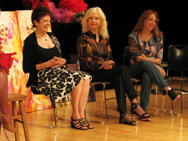 Retired showgirls speak to Las Vegas Academy of the Arts students May 1 as part of the annual Showgirl Art Presentation. (F. Andrew Taylor/View)