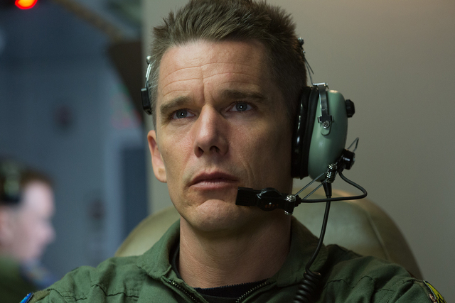 Ethan Hawke (Tom Egan) in Andrew Niccol's GOOD KILL.  Courtesy of Lorey Sebastian.  (C) 2014 Clear Skies Nevada LLC. An IFC Films release.