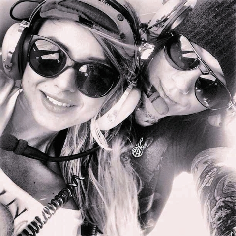 Courtesy/Instagram DJ Ashba, lead guitarist of Guns N' Roses, posted a photo of himself and his girlfriend on Instagram as they took a private ride in a Las Vegas police helicopter in August. (Cou ...
