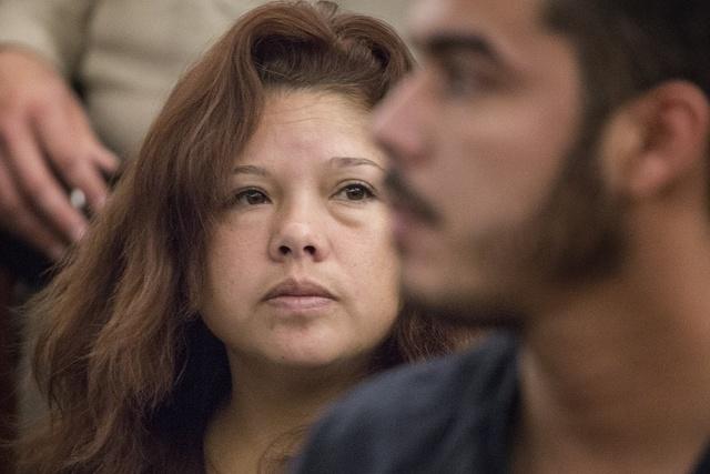 Maria Hernandez appears in court at the Regional Justice Center on Thursday, May 28, 2015. (Jeff Scheid/Las Vegas Review-Journal) Follow Jeff Scheid on Twitter @jlscheid