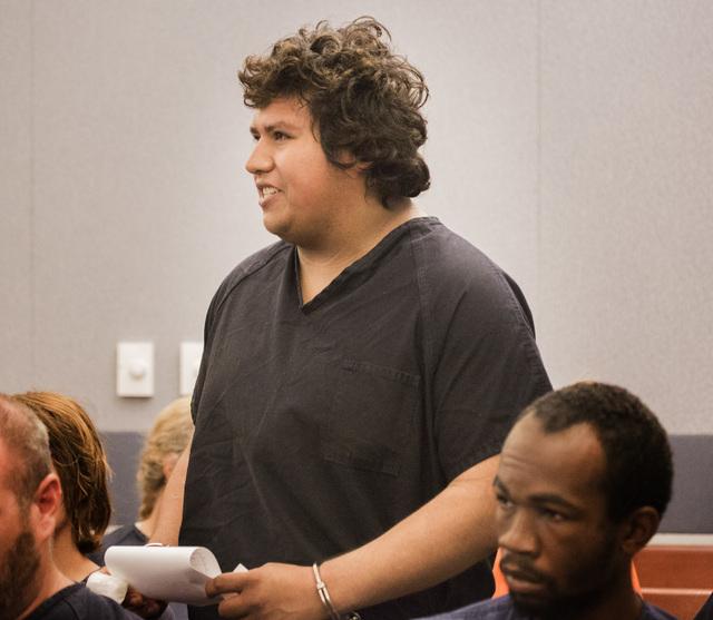 Hector Gutierrez appears in court at the Regional Justice Center on Thursday, May 28, 2015. (Jeff Scheid/Las Vegas Review-Journal) Follow Jeff Scheid on Twitter @jlscheid