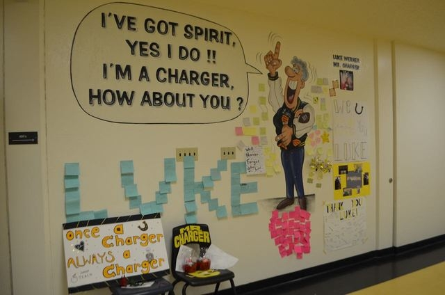 Students have left mementos and notes near a mural honoring Luke Werner, a 1976 Clark High School graduate who had stuck around as a volunteer and inspiration, a man students affectionately called ...