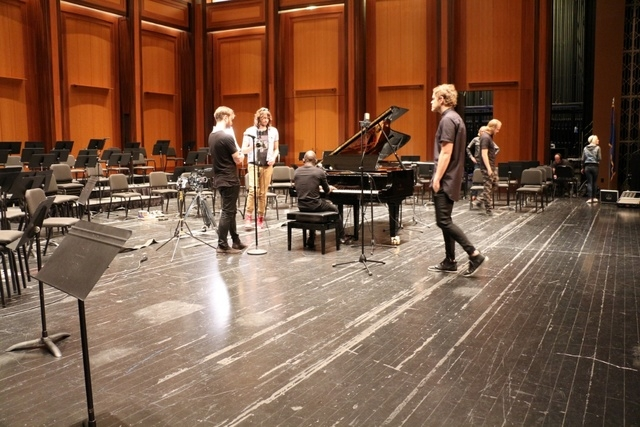 """Imagine Dragons released their newest video on Monday, May 4, 2015, an acoustic-piano version of the song """"Shots,"""" which was recorded on stage at the Smith Center. (Courtesy)"""
