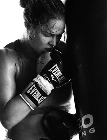 """Interior photos from Ronda Rousey's book, """"My Fight/Your Fight."""" (Courtesy photos by Eric Williams)"""