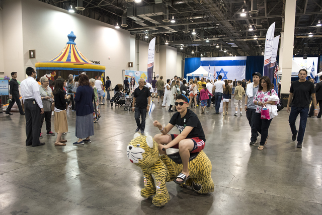 Patrons celebrate Israel Fest inside the Venetian hotel-casino in Las Vegas on Sunday, May 10, 2015. (Martin S. Fuentes/Las Vegas Review-Journal)