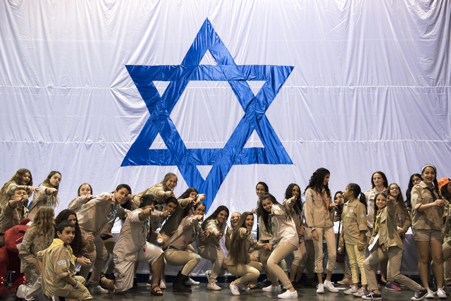 Israeli Scouts pose for photos during Israel Fest inside the Venetian hotel-casino in Las Vegas on Sunday, May 10, 2015. (Martin S. Fuentes/Las Vegas Review-Journal)