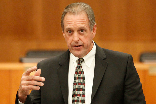 North Las Vegas Mayor John Lee is shown on Oct. 28, 2014. (Erik Verduzco/Las Vegas Review-Journal file)