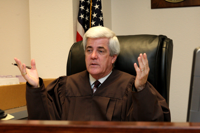 Judge Frank P. Sullivan presides over his courtroom on Thursday, May 7, 2015 at the Clark County Family Court building in Las Vegas. (Michael Quine/Las Vegas Review-Journal) Follow Michael Quine o ...