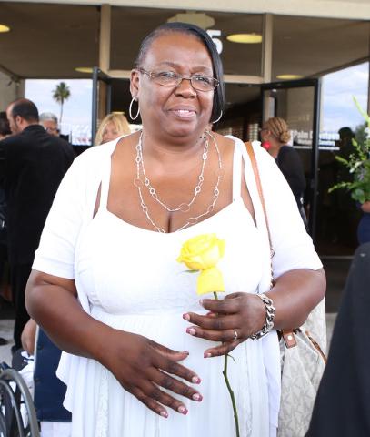 B.B. King's daughter Patty King leaves Palm Mortuary Downtown after attending B.B. King's memorial service on Saturday, May 23, 2015. (Bizuayehu Tesfaye/Las Vegas Review-Journal) Follow Bizu Tesfa ...