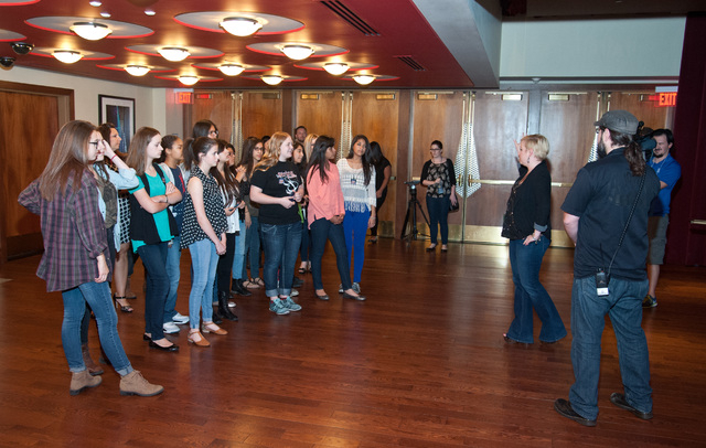 Members of the eighth-grade orchestra class at Knudson Middle School took an all-access tour of The Joint at the Hard Rock Hotel, 4455 Paradise Road, May 13, 2015. (Special to View)