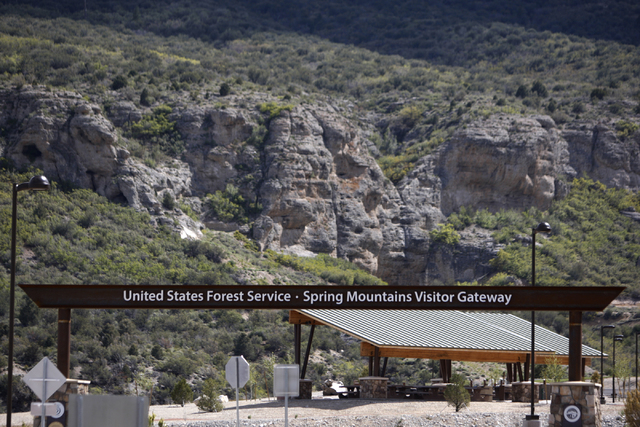 The entrance to the Spring Mountains Visitor Gateway on Kyle Canyon Road in Las Vegas is seen on Wednesday, May 27, 2015. (Erik Verduzco/Las Vegas Review-Journal) Follow Erik Verduzco on Twitter @ ...