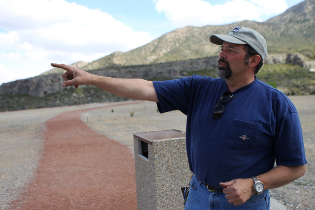 John Harris, project manager for the Spring Mountains Visitor Gateway, gives a tour of Spring Mountains Visitor Gateway on Kyle Canyon Road in Las Vegas Wednesday, May 27, 2015. (Erik Verduzco/Las ...