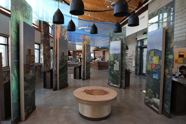 The interpretation area inside the visitor center at the Spring Mountains Visitor Gateway on Kyle Canyon Road in Las Vegas is seen on Wednesday, May 27, 2015. (Erik Verduzco/Las Vegas Review-Journ ...