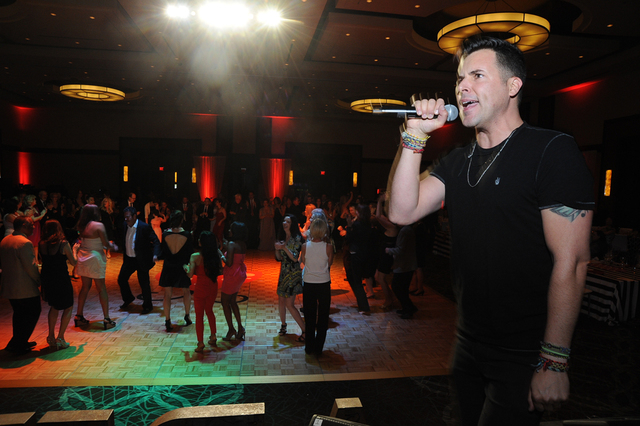 Nevada Blind Children's Foundation's sixth Annual Ladybug Ball attendees dance May 2, 2015, as headliner Frankie Moreno rocks the crowd. (Special to View) Click the image for another photo.