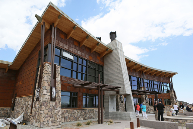 The visitor center is shown at Spring Mountains Visitor Gateway Friday, May 30, 2015, in Kyle Canyon near Las Vegas. The new 128-acre complex is located on Route 157 and is about 35 miles northwes ...