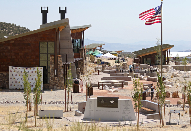 The Spring Mountains Visitor Gateway is shown Friday, May 30, 2015, in Kyle Canyon near Las Vegas. The new 128-acre complex is located on Route 157 and is about 35 miles northwest of the Strip in  ...
