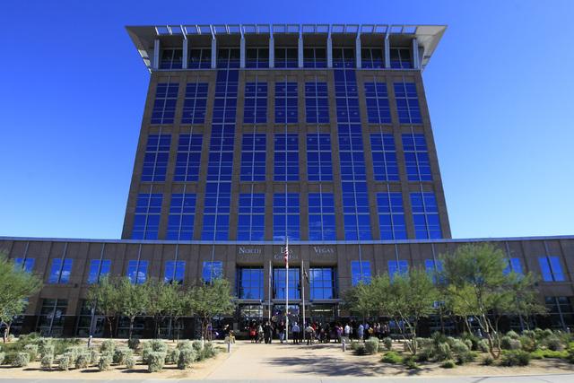 The North Las Vegas City Hall is seen Wednesday, Oct. 8, 2014. (Sam Morris/Las Vegas Review-Journal)