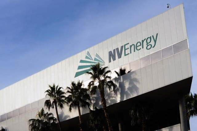NV Energy headquarters is seen at 6626 W Sahara Ave. (David Becker/Las Vegas Review-Journal)