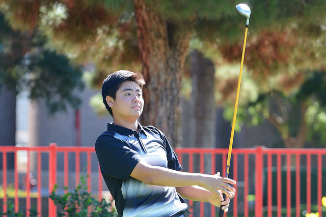 UNLV freshman golfer John Oda.