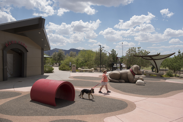 Heritage Bark Park is shown at 300 Racetrack Road in Henderson on Tuesday, May 19, 2015. (Martin S. Fuentes/Las Vegas Review-Journal)