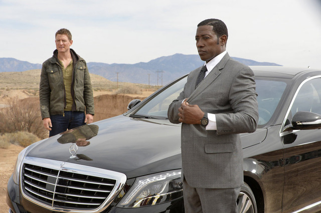 "Philip Winchester, left, and Wesley Snipes star in ""The Player."" (Gregory Peters/NBC)"