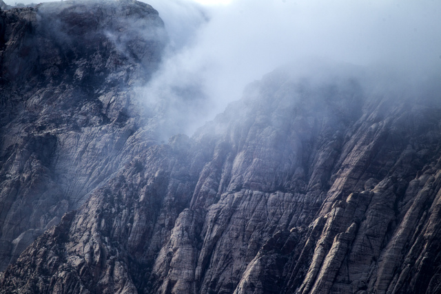 Clouds as seen Thursday, Oct. 10,2012 near Spring Mountain Ranch west of Las Vegas.  (Jeff Scheid/Las Vegas Review-Journal)