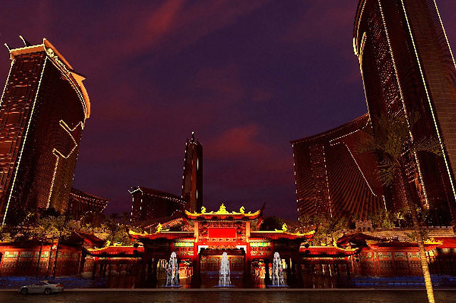 An artist''s rendering of the Resorts World Las Vegas, which will be built on the Las Vegas Strip. Genting Group wants to bring a live panda habitat, a replica of the Great Wall of China, a 7.5-a ...