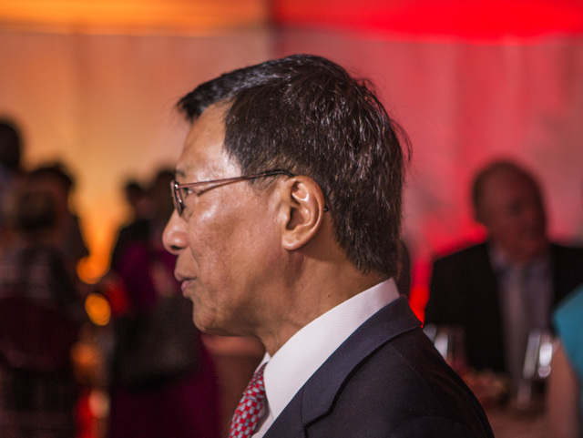K.T. Lim, chairman,  CEO of Genting Group, during the groundbreaking of  the $4 billion Resorts World Las Vegas resort property, the site of the former Stardust hotel-casino on Tuesday, May 5, 201 ...