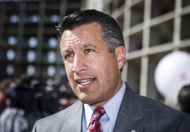Gov. Brian Sandoval on Tuesday, May 5, 2015. Jeff Scheid/Las Vegas Review-Journal) Follow Jeff Scheid on Twitter @jlscheid