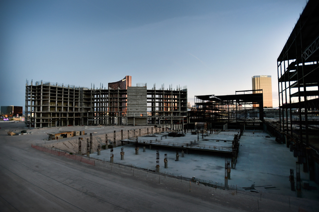 Boyd Gaming's former Echelon development is seen unfinished along the Strip in Las Vegas on Monday, March 23, 2015. Malaysia-based Genting Berhad, which bought the property in 2013, is scheduled t ...