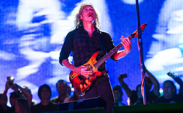 Kirk Hammett of Metallica performs at the main stage during the Rock in Rio USA music festival in Las Vegas on Saturday, May 9, 2015. (Chase Stevens/Las Vegas Review-Journal) Follow Chase Stevens  ...