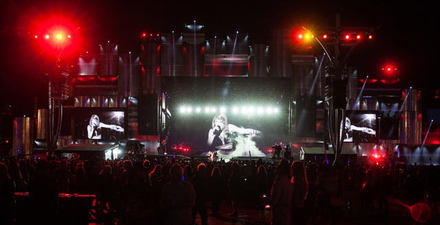 Taylor Swift performs at the main stage during the Rock in Rio USA music festival in Las Vegas on Friday, May 15, 2015. (Chase Stevens/Las Vegas Review-Journal) Follow Chase Stevens on Twitter @cs ...