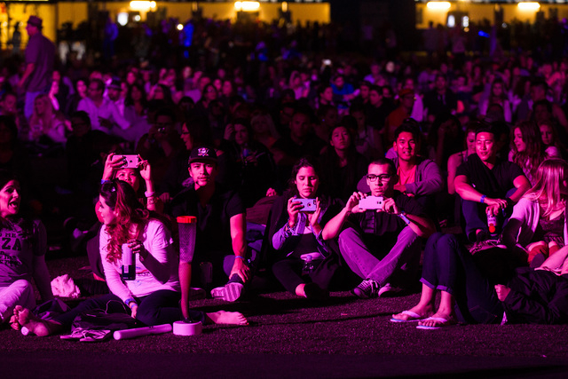 Fans watch as John Legend performs on the main stage during the Rock in Rio USA music festival in Las Vegas on Saturday, May 16, 2015. (Chase Stevens/Las Vegas Review-Journal) Follow Chase Stevens ...