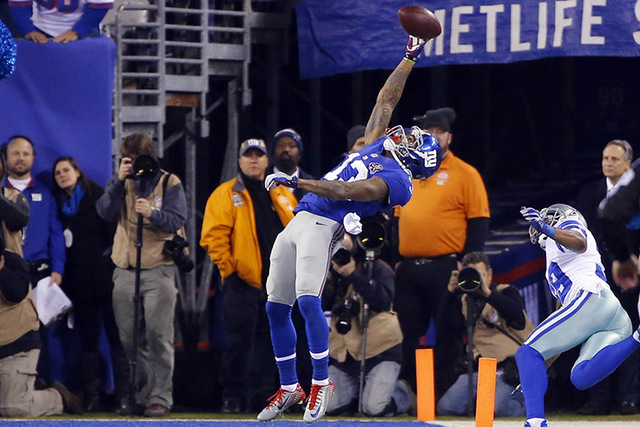 """New York Giants wide receiver Odell Beckham (13) will be on the cover of EA Sports' """"Madden NFL 16."""" (Jim O'Connor-USA TODAY)"""