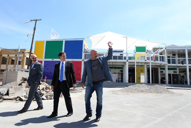 Republican presidential candidate U.S. Sen. Marco Rubio, R-Fla., center, tours the Pawn Plaza in Las Vegas with Rick Harrison, right, co-owner of the World Famous Gold & Silver Pawn Shop on Thursd ...