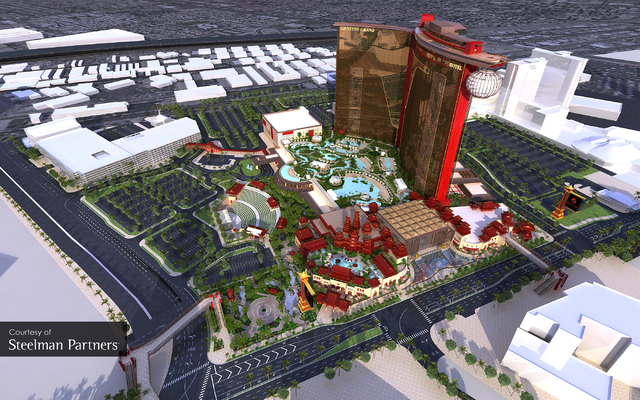 An artist rendering of the Resort World Las Vegas. The $4 billion project development  at the site of the former Stardust is the first  megaresort  Las Vegas since 2005. COURTESY PHOTO