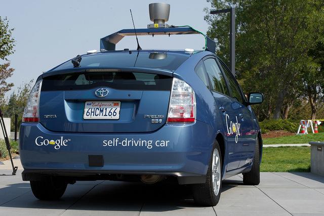 Google self-driving car. (Courtesy CNN)
