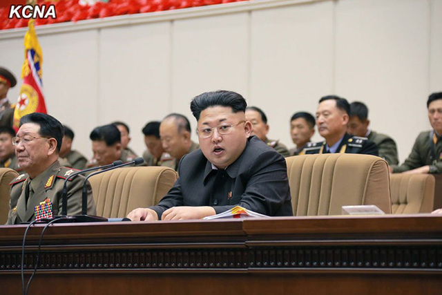 Kim Jong Un meets with battalion commanders in Pyongyang, North Korea on November 3 & 4, 2014. (CNN)