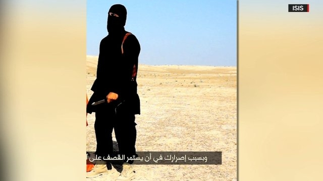 A man with a British accent seen in ISIS videos showing the beheadings of Western hostages was identified Thursday, Feb. 26, 2015, as Mohammed Emwazi, a Kuwaiti-born Londoner, according to two U.S ...
