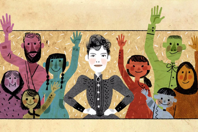 Tuesday's Google Doodle pays tribute to trailblazing journalist Nellie Bly on her 151st birthday with a melodic ode. (CNN)