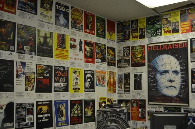 Posters of past shows fill the walls at The Sci Fi Center. (Ginger Meurer/Special to View)