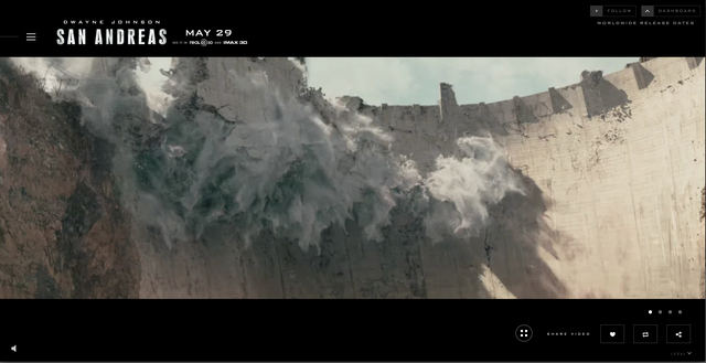 "The Hoover Dam is destroyed in a scene from ""San Andreas."" © 2015 Warner Bros. Entertainment Inc."
