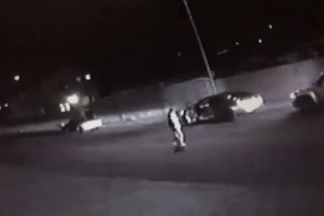 Las Vegas police need help identifying and locating a person they say was involved in a shooting that left a man in critical condition last week. (Screengrab/LasVegasPolice/YouTube)