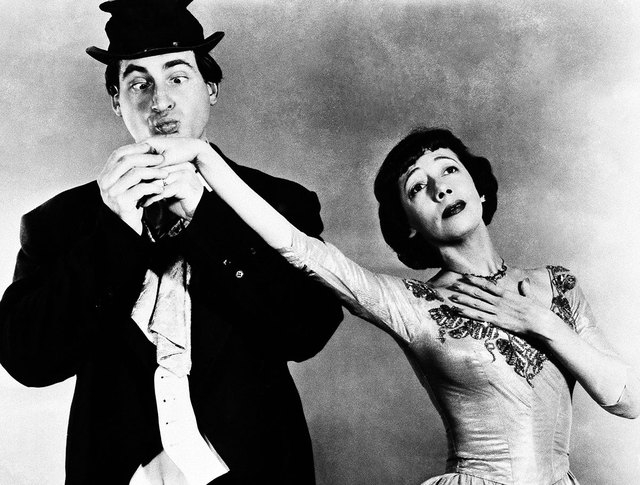 "Sid Caesar and Imogene Coca are shown in a scene from ""Your Show of Shows."" Caesar, whose sketches lit up 1950s television with zany humor, died Wednesday. He was 91. (NBC, File)"