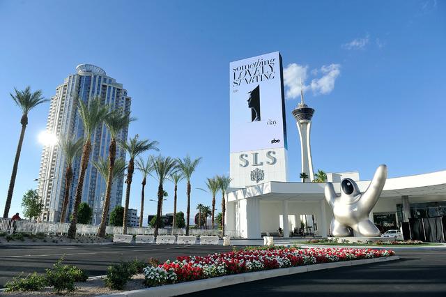 SLS Las Vegas during the grand opening celebration on Friday, Aug. 22, 2014.  (David Becker/Las Vegas Review-Journal)