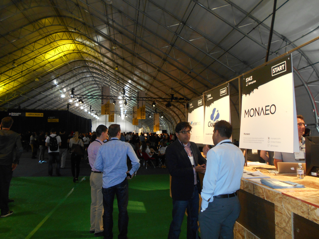 Some of the 8,000 participants schmooze at Collision Conference at World Market Center on Tuesday, May 5, 2015. The conference was held to allow startup companies to make pitches to investors. (Al ...